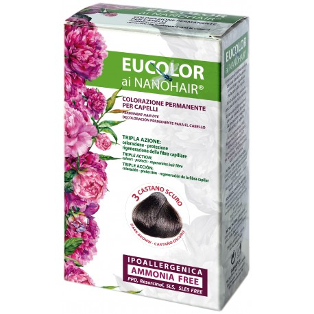 EUCOLOR TINTURA 3 CASTANO SCURO 60 ML